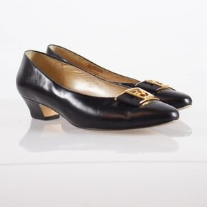 Vintage 90/'s Luca B by Calico Size 7M Black Leather Slingback Sandals
